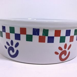 "9"" Colorful Paw Prints Ceramic Bowl"
